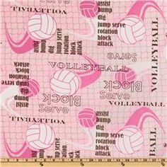 pink volleyball fabric