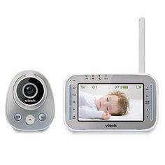 VTech VM342 Safe & Sound Expandable Digital Video Baby Monitor with 1 Camera Standard Lens and Wide-Angle Lens