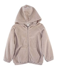 Khaki Velour Organic Zip-Up Hoodie - everything by this brand is organic and looks sweet and lovely- #zulily