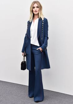 Rosie Huntington Whiteley all navy street style