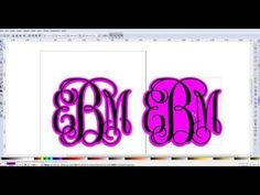 Creating a shadow layer for monograms in Inkscape - YouTube