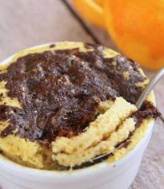 Orange & Chocolate Chip Mug Cake (low-carb, keto, paleo) Chocolate Chip Mug Cake, Chocolate Mug Cakes, Chocolate Muffins, Low Carb Mug Cakes, Protein Mug Cakes, Easy Mug Cake, Keto Mug Cake, Low Carb Sweets, Low Carb Desserts