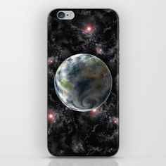Earth-Space iPhone & iPod Skin by Tbhangal | Society6  Also available as; framed art prints, canvas prints, printed on metal, t-shirts, long sleeve tops, hoods, throw pillow cushions, mugs, travel mugs, duvet covers, laptop sleeves, towels. iPhone, iPod and Samsung phone cases and skins.