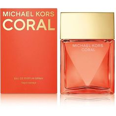 Michael Kors MK Coral Eau de Parfum-3.4 oz. ($110) ❤ liked on Polyvore featuring beauty products, fragrance, no color, michael kors, michael kors perfume, eau de perfume, edp perfume and eau de parfum perfume