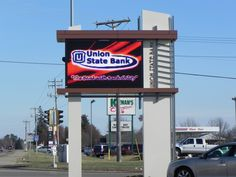 Union State Bank sign with large digital display