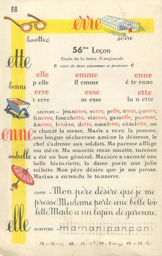 French school book page Learning A Second Language, Learn A New Language, French Words, French Quotes, French Teacher, Teaching French, French Lessons, Spanish Lessons, How To Speak French