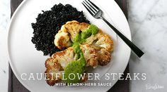 Easy cauliflower steaks with lemon-herb sauce