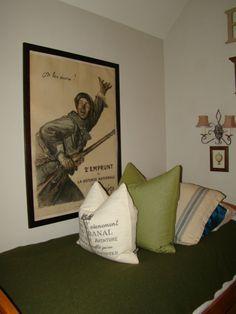 Boys room ~ WWI Original poster~  Stephanie Tuliglowski Designs~