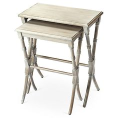 S/2 Leah Nesting Table, Driftwood