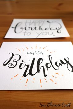 diy birthday cards for friends Geburtstagskarte Lettering, Handmade Birthday Cards, Happy Birthday Cards, Diy Birthday, Birthday Presents, Card Birthday, Birthday Letters, Birthday Ideas, Credit Card Pictures, Cumpleaños Diy