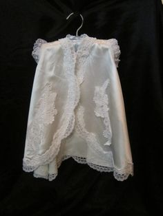Vintage White Silky Baby Gown
