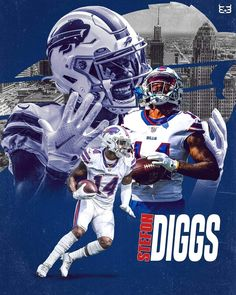 Giants Football, Best Football Players, Football Match, Football Helmets, Stefon Diggs, Buffalo Bills Football, Sports Shops, Cool Photos, Sick