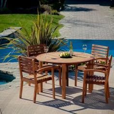 @Overstock - With the Romano 5pc Hard Wood Dining Set, you have ample room for seating your family or your guests outdoors. The Eucalyptus wood offers such a high quality elegance that you'll be tempted to use your set indoors, as well.http://www.overstock.com/Home-Garden/Romano-Deluxe-Eucalyptus-Wood-5-piece-Dining-Set/6568626/product.html?CID=214117 $515.52