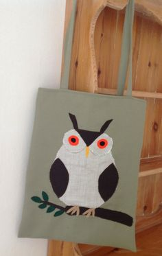 Owl Bag Tote by Craftycreate on Etsy, £18.00
