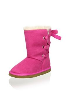 Osh Kosh B'Gosh Kid's Matilda Faux Fur Ribbon Boot (Pink)