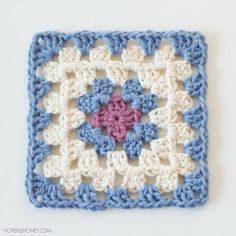 "Easy Classic Granny Square | AllFreeCrochet.com ~ BEGINNER ~ 5.5"" square ~ FREE - CROCHET"