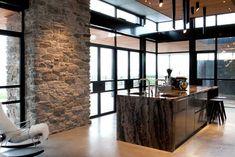 Kitchen Interior, Kitchen Design, Steel Doors And Windows, Modern House Plans, Mid Century House, Architecture, Modern Rustic, New Homes, Interior Design