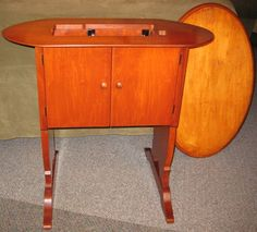 Singer 221 Featherweight 68 Cabinet with Lift | Singer ...