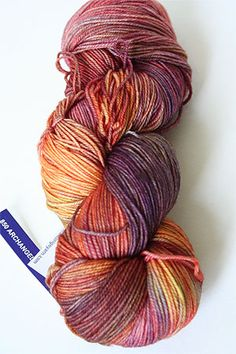 Fabulous Yarn-Archangel 850 Variegated Malabrigo Sock Yarn 100% Merino Wool Sock Weight Knitting Yarn