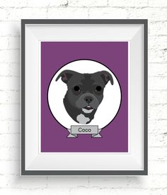 Custom Pet Portrait. Personalized dog illustrations make wonderful gifts for dog lovers. #doglovers #doglovergift #petportrait #custompetportrait #dogportrait #customdogportrait #personalizedpetportrait #handmadepetportrait #digitalportraits #petportraitgift #customdogillustration #dogportraits