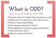 Creative / Chaos: Oppositional Defiant Disorder: Strategies to support ODD students in the classroom... I'm posting this for you to work with you know whom.