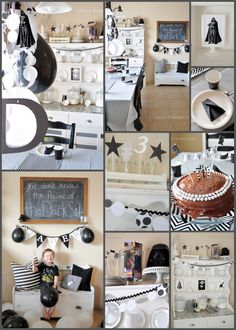 Darth Vader Black and White Birthday Party using Canvas Corp