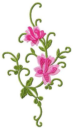 Free Machine Embroidery Designs Patterns | free flowers decor embroidery design