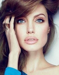 nude lips + eyes.