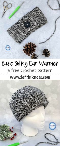 Use this free beginner-friendly crochet pattern to make a quick bulky ear warmer! Plus get free printable PDF tags and join me in spreading some yarn love around your community this winter :) A perfect project for donation, charity, craft fairs and gifts. #crochet #crochetpatterns #printable #winteriscoming