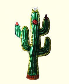 saguaro cactus - mexican tin milagro