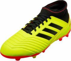 adidas Predator 18.3 FG - Youth - Solar Yellow Black Solar Red. Adidas  PredatorYouth Soccer ShoesSoccer ... 47648169b