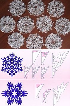 Best 8 6 beautiest patterns for cutting out Christmas snowflakes — save and share with friends – SkillOfKing. Paper Snowflake Designs, Snowflake Template, Christmas Paper Crafts, Christmas Projects, Holiday Crafts, Christmas Snowflakes, Diy Christmas Ornaments, Christmas Decorations, Paper Snowflakes
