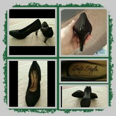 Black Heels By Hush PuppiesFINAL REDUCTION Like New Woman's Heels, Size 10 Medium, By Hush Puppies, Black Color, Very Comfortable To Wear. These Were Only Worn Once. Excellent Like New Condition POSTED ON MER_CARI CODE: CQUAAW  Hush Puppies Shoes Heels