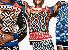 Maxhosa by Laduma a capsule collection of knitwear designs for women by South African Fashion designer Laduma Ngxokolo called Buyel'mbo. South African Fashion, African Fashion Designers, Africa Fashion, Ankara Fashion, African Print Dresses, African Dress, African Prints, African Attire, African Outfits