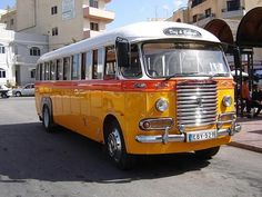 Old bus at Malta's islands - Is the van to a funny road trip in Malta? Cannot hardly wait.