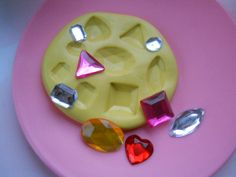 GEMS Mulit Sizes Large Flexible Mold For DIY by bakerydelights, $6.95