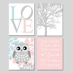 Hey, I found this really awesome Etsy listing at https://www.etsy.com/listing/175737468/baby-girl-nursery-art-quad-love-birds-in
