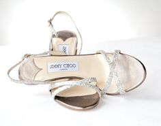 Silver Jimmy Choo heels. #MixedMetals