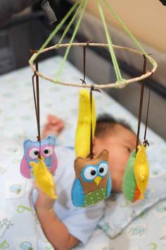 MAKE a good day : DIY Owls baby mobile