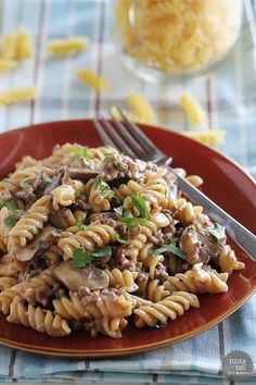 One Pot Ground Beef Stroganoff - Taste and Tell