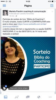 Entre, curta a página https://www.facebook.com/marielaparolinicoachingcomunicacao