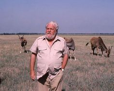 Gerald Durrell, writer, founder of the Durrell Wildlife Conservation Trust and the Durell Wildlife Park. He saw zoos as an opportunity to foster endangered species and worked to restore species.