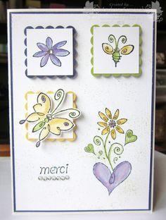 Handmade Thank You Card ... Stampin' Up! - Merci ... EnchantINK