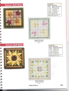 Discover thousands of images about Itty Bitty Quilt Blocks Magnets Plastic Canvas Coasters, Plastic Canvas Ornaments, Plastic Canvas Tissue Boxes, Plastic Canvas Crafts, Plastic Canvas Patterns, Cross Stitching, Cross Stitch Embroidery, Cross Stitch Patterns, Needlepoint Patterns