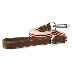 Good2Go+Oxford+Classic+Red+Striped+Dog+Leash+-+Classic+approach+to+an+oxford+style+collar+for+a+simpler+look+to+your+dog's+collars+and+leashes. - http://www.petco.com/shop/en/petcostore/product/good2go-oxford-classic-red-striped-dog-leash-5001064--1