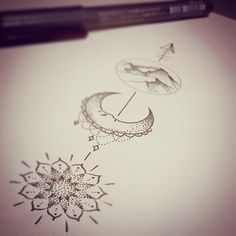 Resultado de imagen de arrow sun tattoo