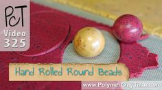 http://www.beadsandbeading.com/blog/?p=16554 Video #325: With a little practice, you'll be rolling perfectly round polymer clay beads by hand, which believe ...