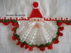 Vanecroche and patch: Dishcloth with Santa Claus crochet with step by step
