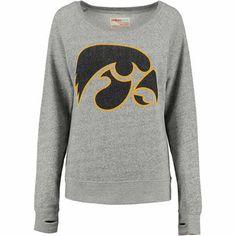 Iowa Hawkeyes Women's Big Canvas Knobi Fleece Sweatshirt – Gray