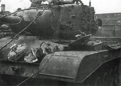 M26 Pershing T26E3 nicknamed Fireball knocked out by a Tiger I in an ambush.